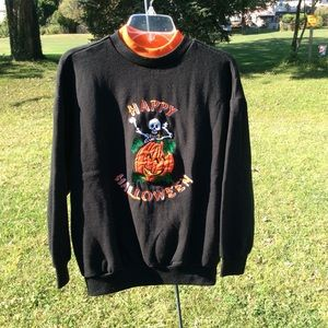 VINTAGE 1990's Halloween embroidered pullover